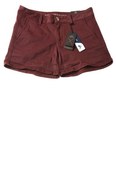 NEW American Eagle Women's Shorts 6 Maroon