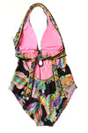 NEW Trina Turk Women's Swimsuit 8 Black/Print