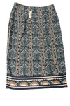 NEW Max Studio Women's Skirt Medium Blue / Print