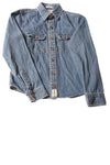 USED abercrombie Boy's Shirt Medium Striped Denim