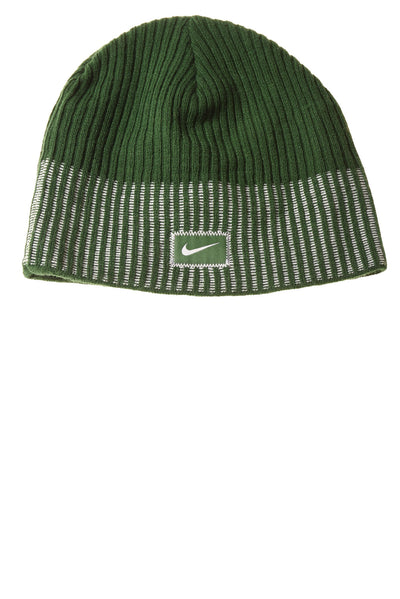 USED Nike Men's Hat One Size Green & White / Stripes