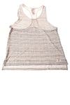 USED Under Armour Junior Top X-Large Gray & White /Striped
