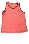 USED Under Armour Men's Tank Top Medium Red & Maroon