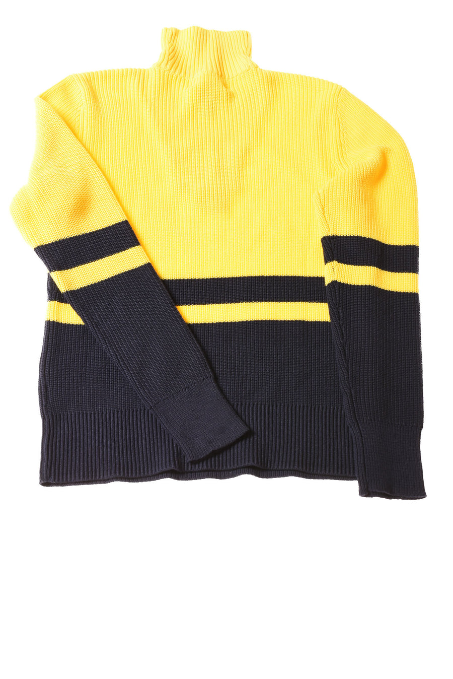 NEW Ralph Lauren Women's Sweater Medium Yellow / Navy Striped