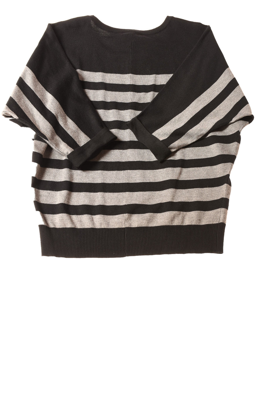 NEW Chelsea & Theodore Women's Sweater X-Large Black & Gray / Striped