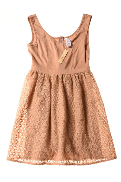 NEW Esley Women's Dress Small Light Brown