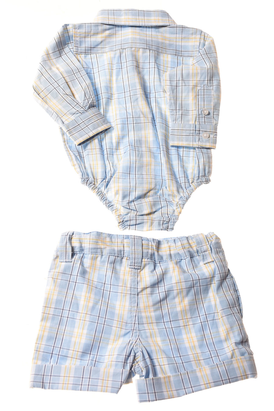 NEW Hartstrings Baby Baby Boy's 2Pc. Outfit 3-6 Months Blue/Plaid