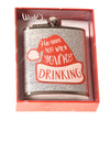 NEW Wink Women's Flask N/A Silver/Print