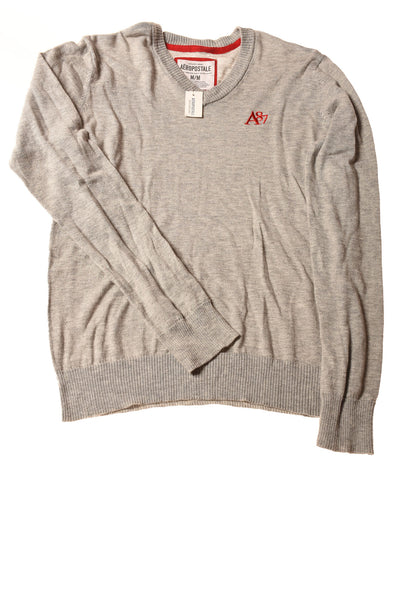 USED Aeropostale Men's Sweater Medium Gray
