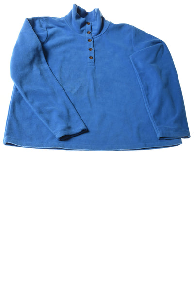USED Lands' End Women's Petite Top Large Blue