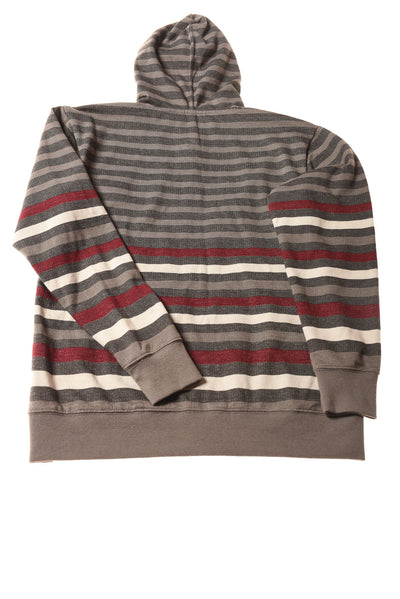 NEW Ocean Current Boy's Hoodie Medium Gray / Striped Print