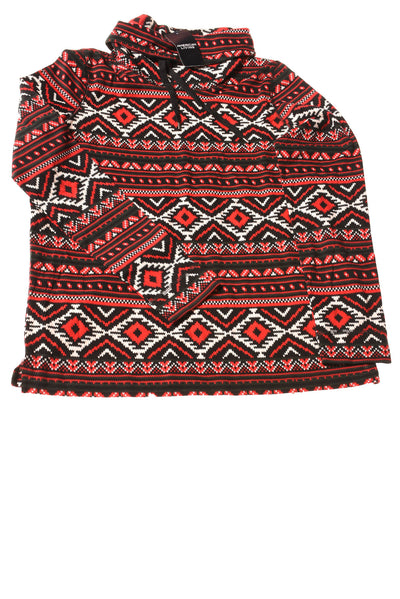 NEW American Living Women's Top Large Red & Black / Print