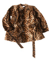 USED Mix It Women's Coat Large Animal Print