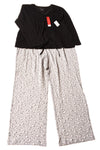 NEW Croft & Barrow Women's Pajama Set XX-Large Black & Gray