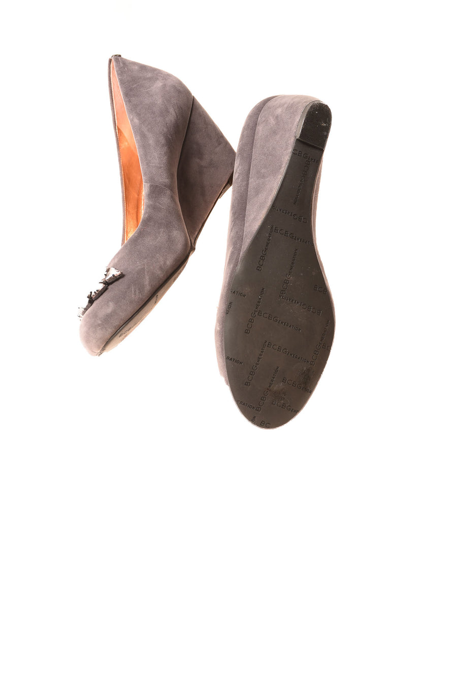USED BCBG Women's Shoes 9 Gray
