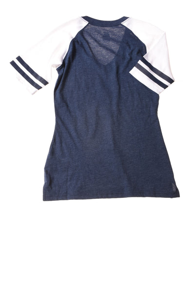 USED Nike Women's Top Small Blue & White