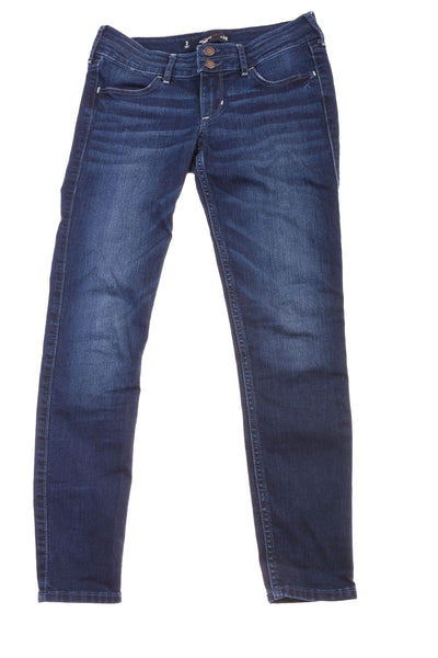 USED Hollister Junior's Crop Jeans 3 Blue