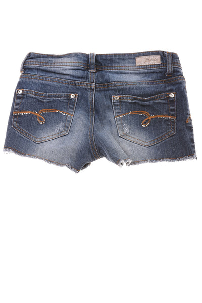 USED Justice Girl's Shorts 10 Regular Blue