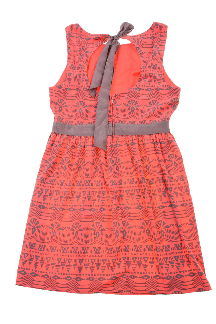 NEW B. Darlin Women's Dress  13/14 Coral & Gray