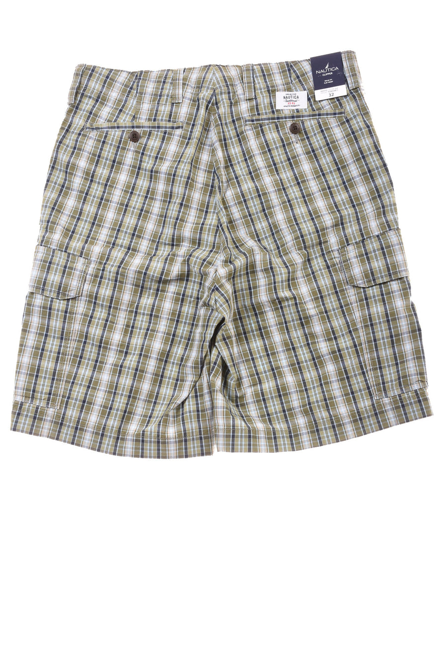 NEW Nautica Men's Shorts  32 Green & Blue