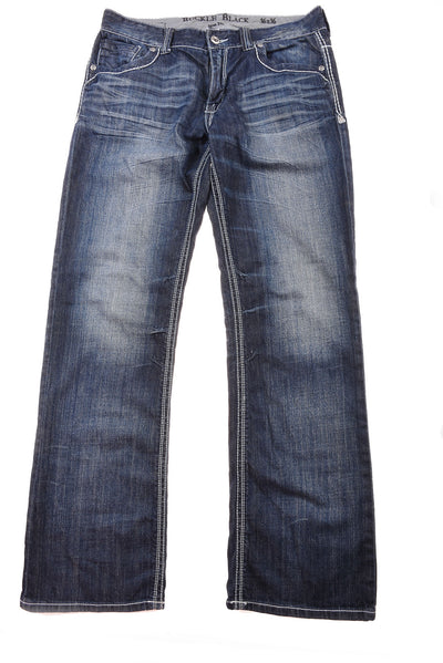 USED Buckle Men's Jeans 36x36 Blue