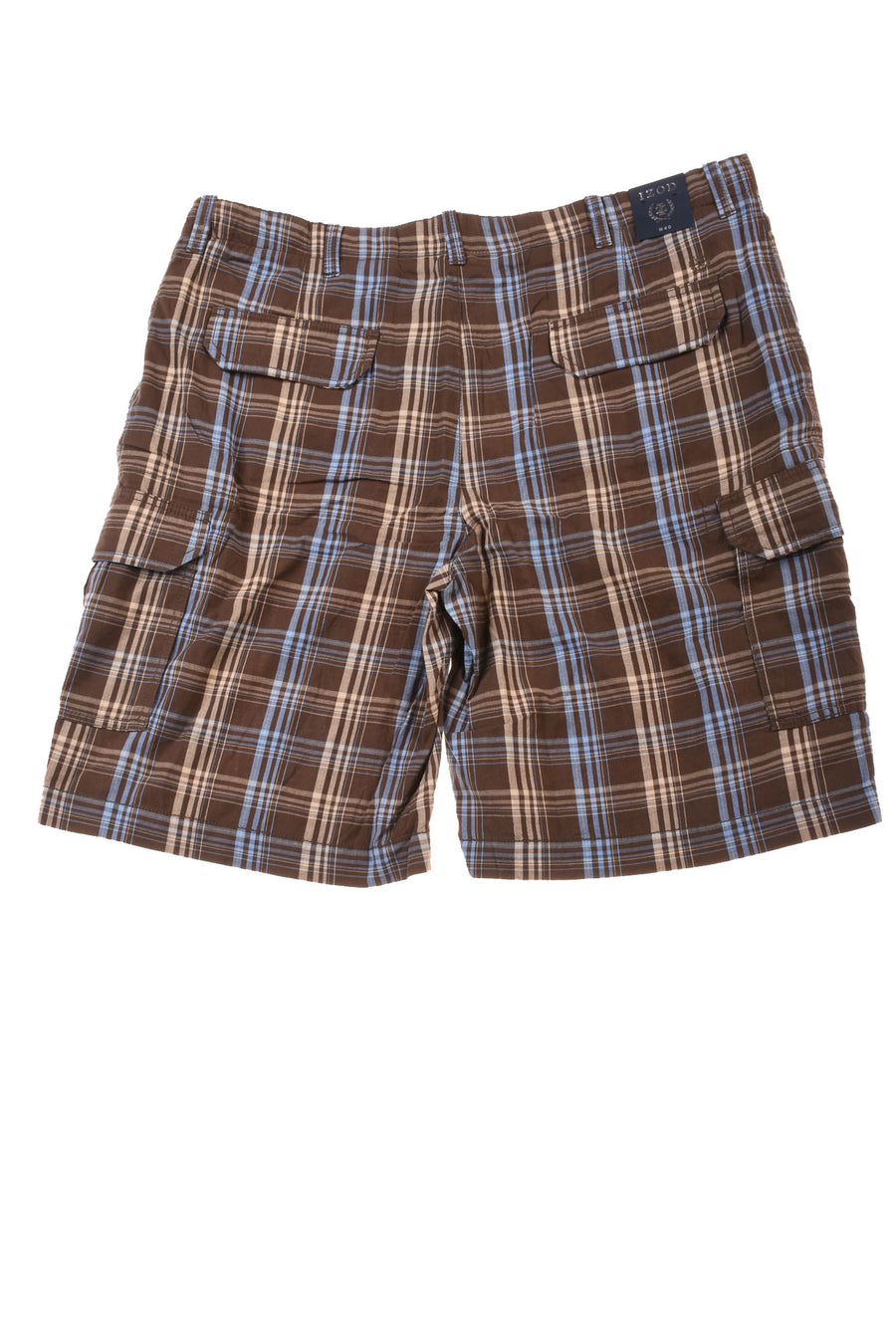 NEW Izod Men's Shorts 40 Brown & Blue