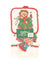 NEW Santa's Kitchen Christmas Kitchen Set  N/A Tan, Red, & Green