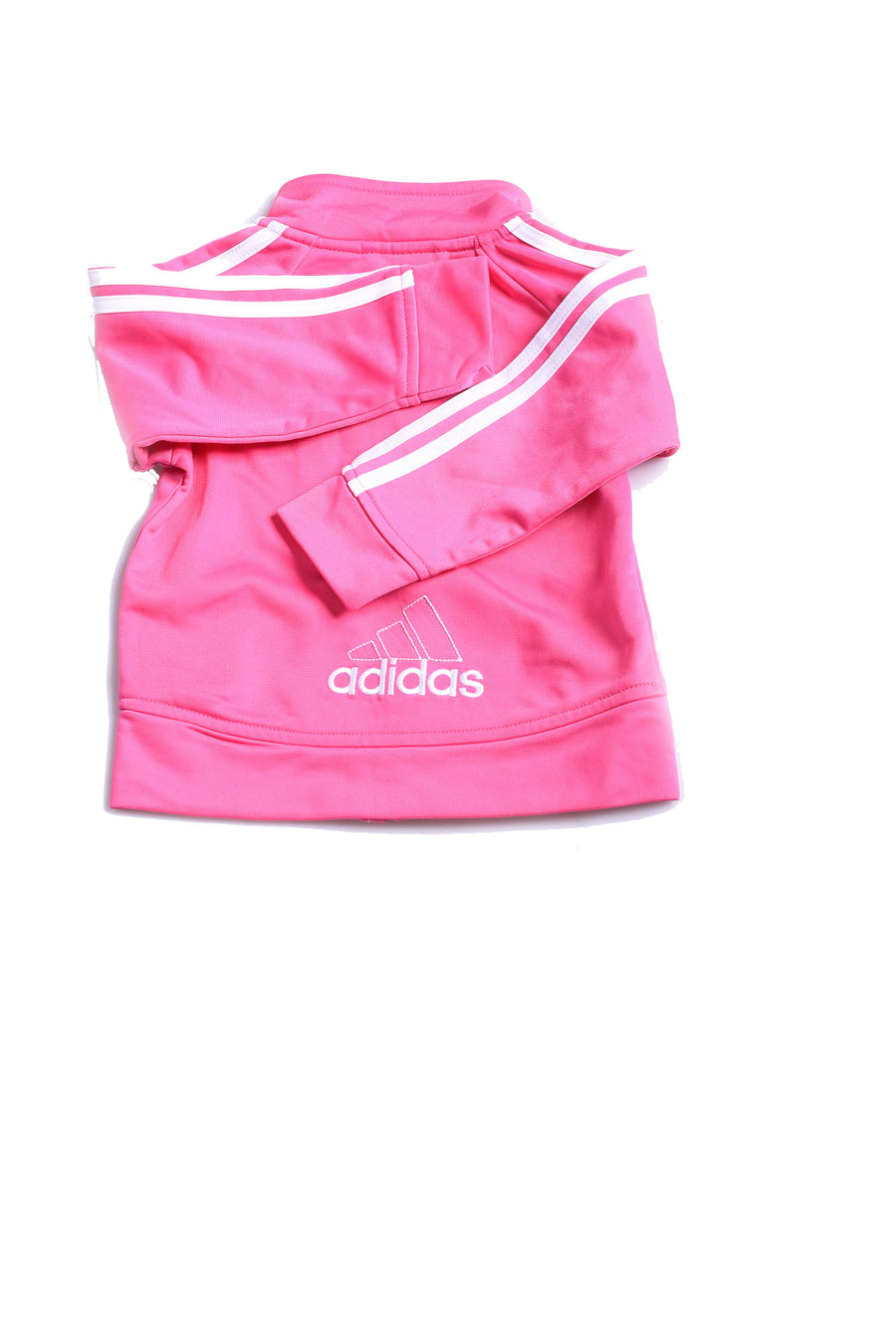 USED Adidas Baby Girl's Jacket 18 Months Pink & White