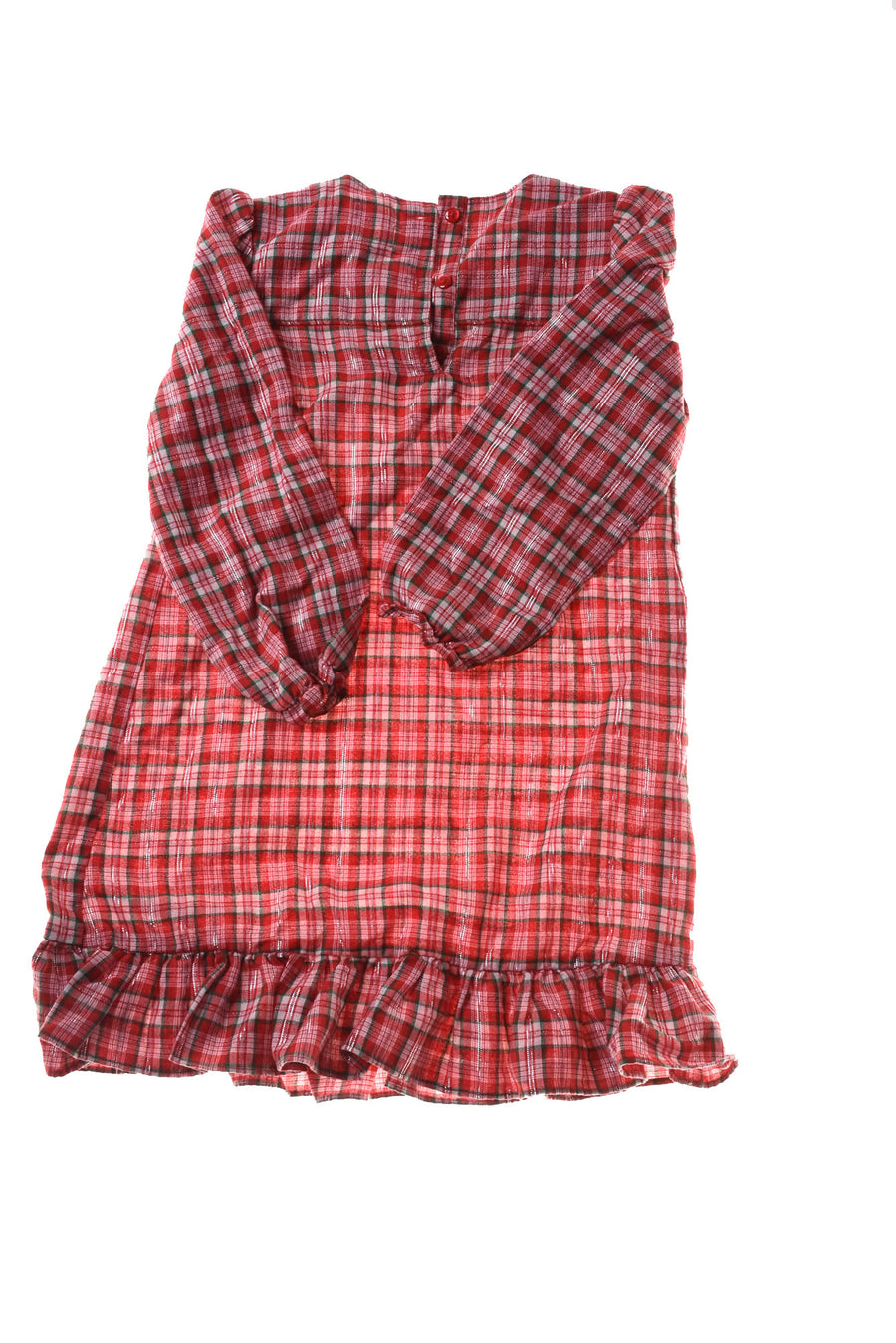 USED Oshkosh Girl's Nightgown 6 Red & Green