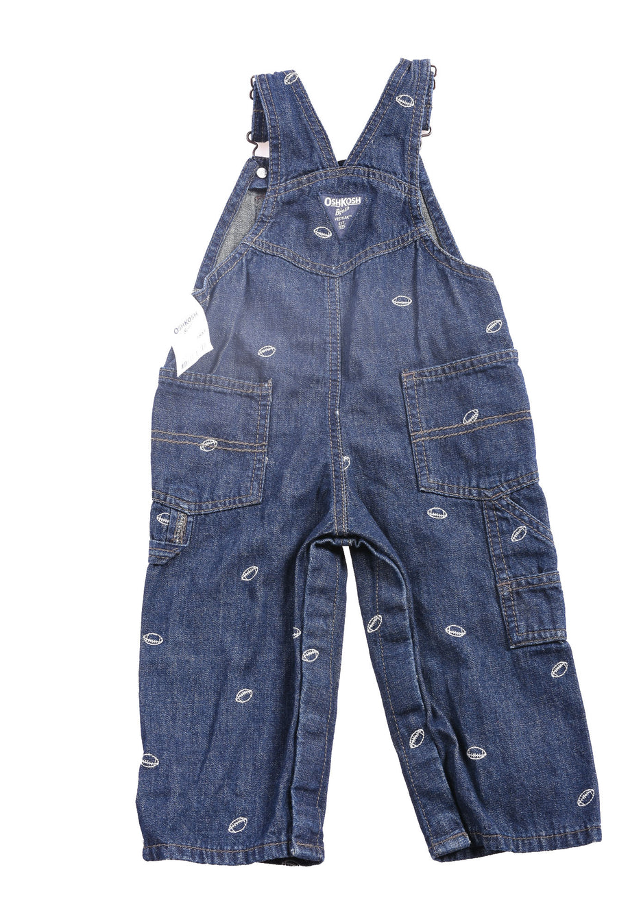NEW Oshkosh Baby Boy's Overall Pants 18 Months Blue