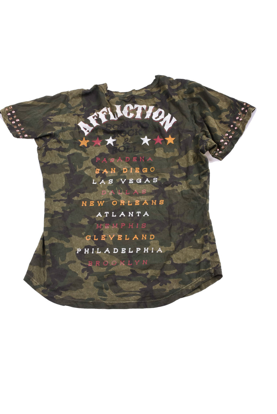 USED Affliction Women's Shirt Large Green