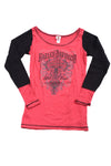 USED Harley Davidson Women's Shirt Small Red & Black
