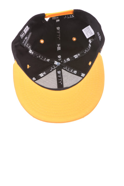 USED New Era Men's Hat One Size Black & Yellow