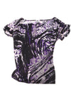 USED Worthington Women's Top Large Black & Purple
