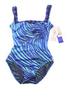 NEW Crossroads Western Wear Swimsuit 6 Black-Cobalt