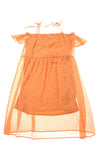 USED Xhilaration Women's Dress Medium Orange & White