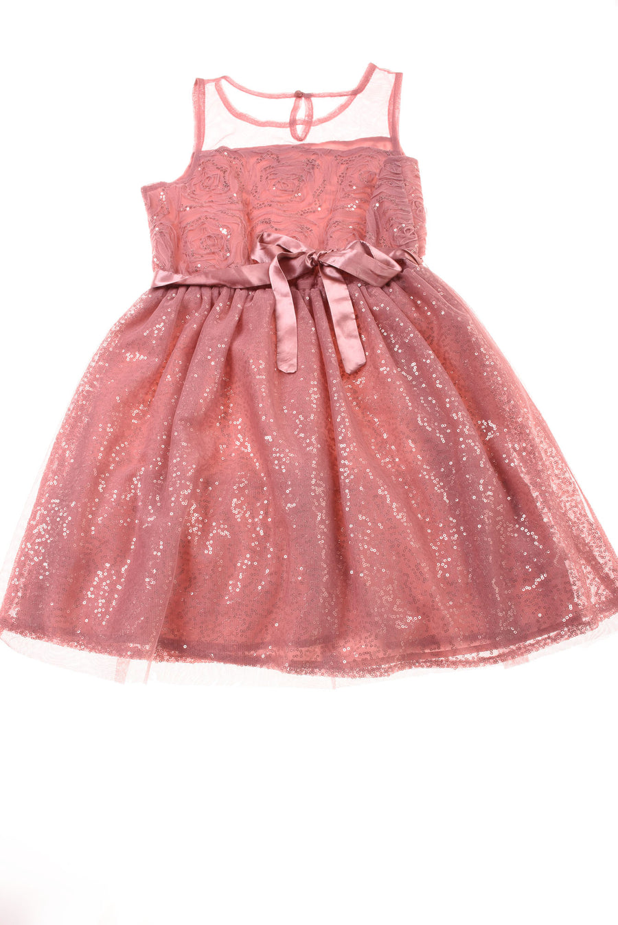 USED Justice Girl's Dress 12 Pink