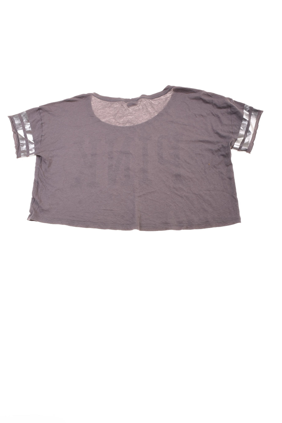 USED Pink By Victoria Secret Women's Top X-Small Gray & Silver Tone