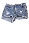 USED GoGo Star Juniors Plus Shorts 15 Blue