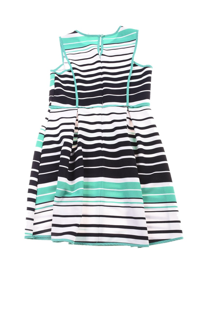USED Monteau Girl's Dress Large Black, Green, & White
