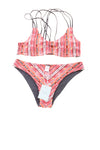 NEW Cupshe Women's Swim Suit Small Red, Black, & White