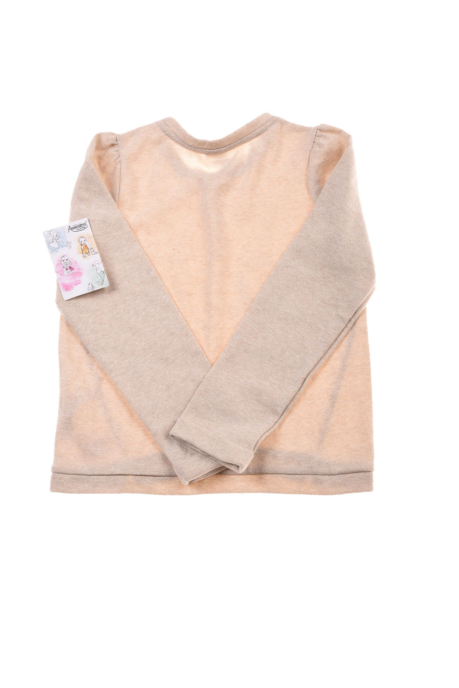 NEW Disney Store Girl's Sweater 9/10 Tan & Gold Tone