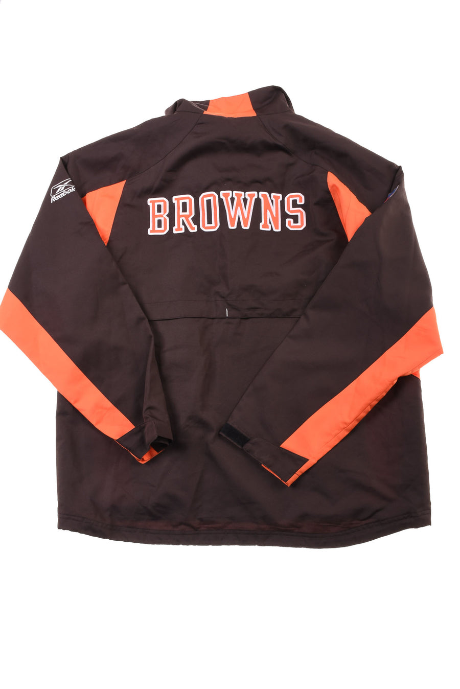 USED Reebok Men's Cleveland Brown's Jacket Large Brown & Orange