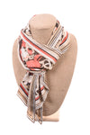 USED No Brand Women's Scarf N/A Brown & Orange