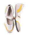 USED Curves Women's Shoes 10 White & Yellow