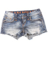 NEW Rock Revival Women's Shorts 25 Denim Blue