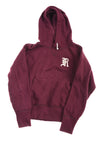 USED Ralph Lauren Women's Pull Over Hoodie Small Maroon