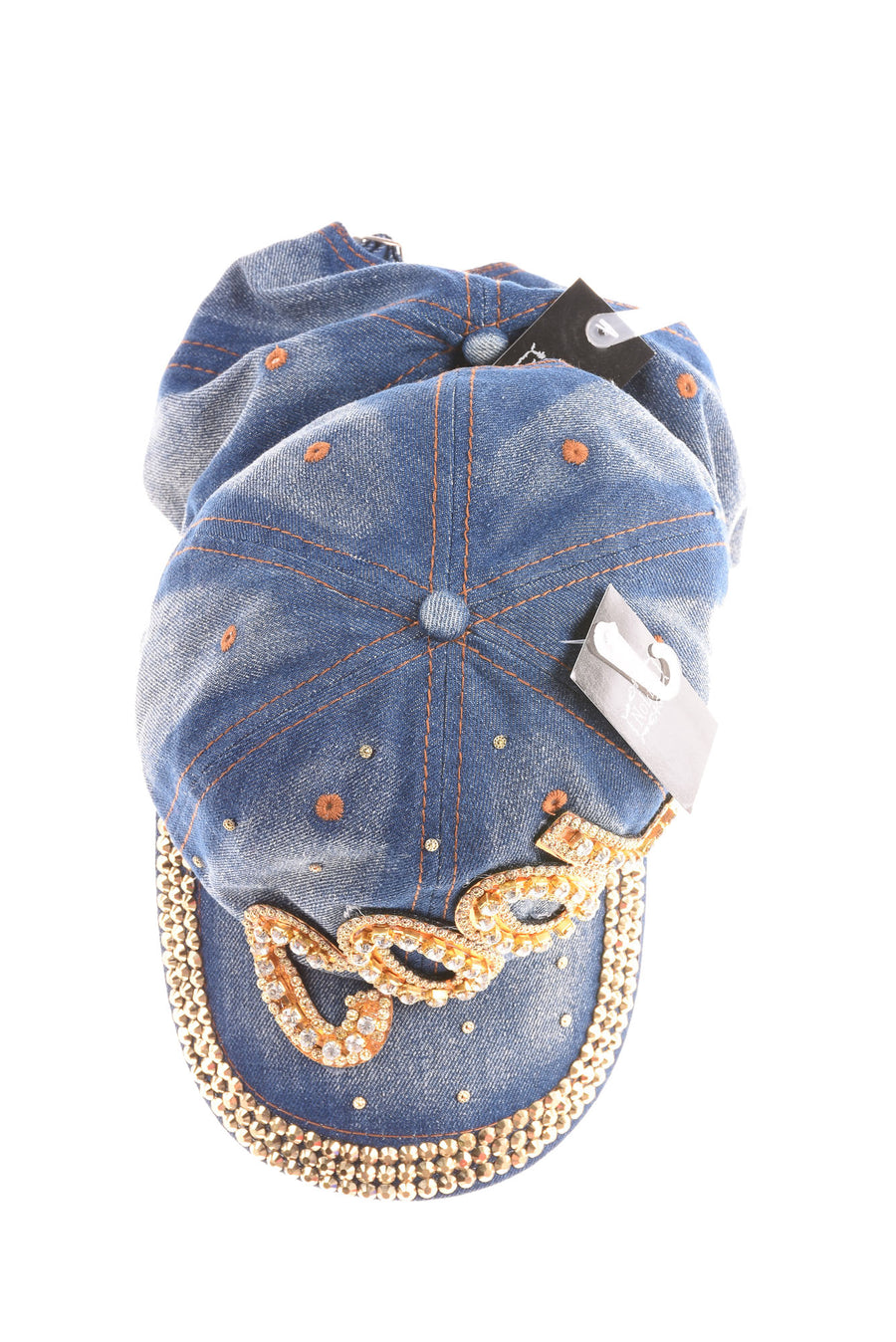 NEW Nollia Women's Hats One Size Blue & Gold Tone