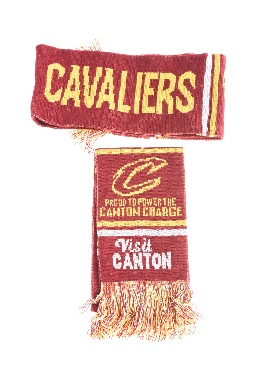USED No Brand Cleveland Cavalier & Canton Charge Scarves One Size Red & Yellow