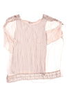 USED Carina Ricci Women's Top Small Taupe
